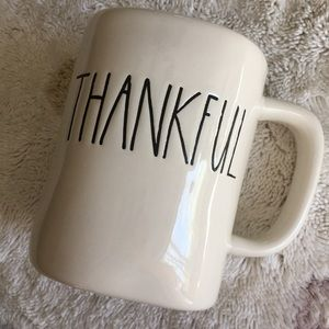 Thankful Mug (not Rae Dunn) solid EUC